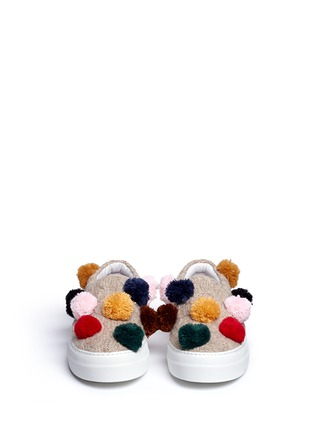 Front View - Click To Enlarge - Joshua Sanders - Pompom cable knit skate slip-ons