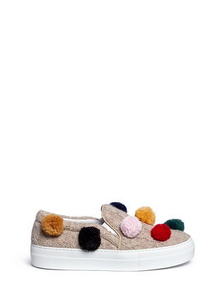 Main View - Click To Enlarge - Joshua Sanders - Pompom cable knit skate slip-ons