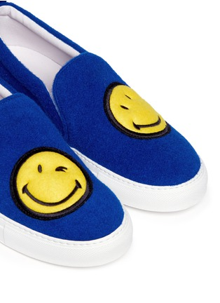 Detail View - Click To Enlarge - Joshua Sanders - 'Smile' double face felt skate slip-ons