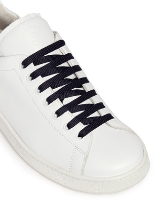 Detail View - Click To Enlarge - Joshua Sanders - 'N.Y.' letter print leather sneakers