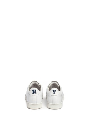 Back View - Click To Enlarge - Joshua Sanders - 'N.Y.' letter print leather sneakers