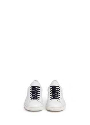 Front View - Click To Enlarge - Joshua Sanders - 'N.Y.' letter print leather sneakers