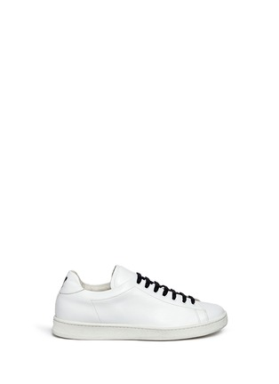 Main View - Click To Enlarge - Joshua Sanders - 'N.Y.' letter print leather sneakers