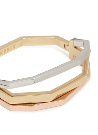 Detail View - Click To Enlarge - W.Britt - 'Flip Bracelet' convertible gold plated bangle
