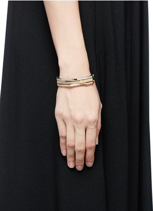 Figure View - Click To Enlarge - W.Britt - 'Flip Bracelet' convertible gold plated bangle