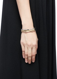 W.Britt 'Flip Bracelet' convertible gold plated bangle