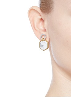 W.Britt 'Hexagon Flip' inset howlite stud earrings