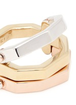 'Flip' convertible gold plated ring