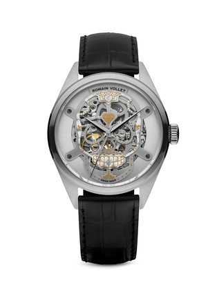 Main View - Click To Enlarge - Romain Vollet - Motor Skull 101 Original skeleton watch