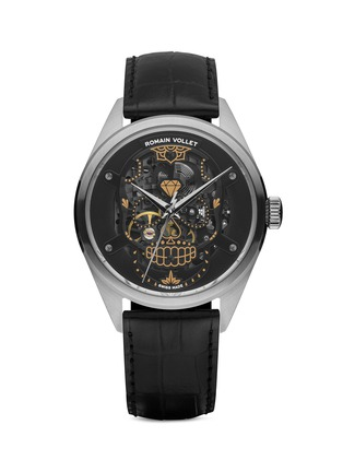 Main View - Click To Enlarge - Romain Vollet - Motor Skull 151 Darkside skeleton watch