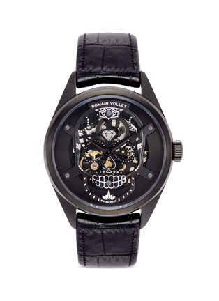 Main View - Click To Enlarge - Romain Vollet - Motor Skull 555 Deepblack skeleton watch