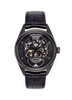 Motor Skull 555 Deepblack skeleton watch