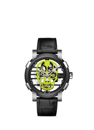 Main View - Click To Enlarge - Romain Jerome - Skylab 48 Speed metal skull skeleton watch - Yellow