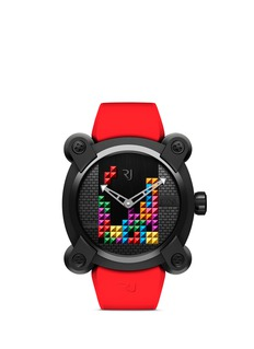 Romain Jerome Tetris DNA PVD coated titanium watch