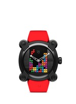 Tetris DNA PVD coated titanium watch