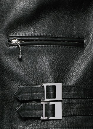 Detail View - Click To Enlarge - Givenchy - Leather biker jacket