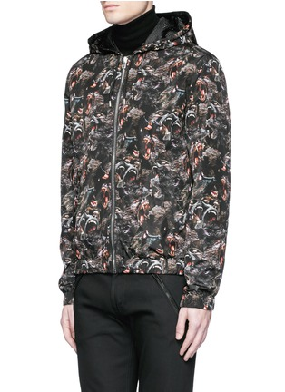 Front View - Click To Enlarge - Givenchy - Monkey print windbreaker jacket