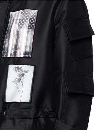 Detail View - Click To Enlarge - Givenchy - Flag patch parka coat