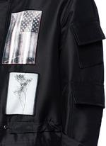 Flag patch parka coat