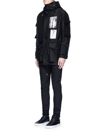 Front View - Click To Enlarge - Givenchy - Flag patch parka coat