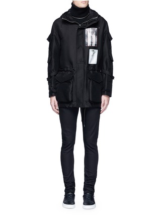 Main View - Click To Enlarge - Givenchy - Flag patch parka coat