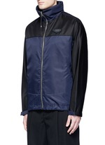 Bicolour ballistic nylon hood jacket
