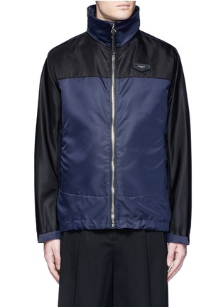 Main View - Click To Enlarge - Givenchy Beauty - Bicolour ballistic nylon hood jacket