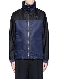GivenchyBicolour ballistic nylon hood jacket