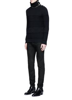 Givenchy'Rico' back strap skinny jeans
