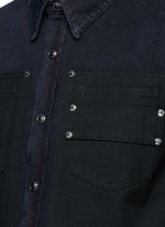 Contrast front denim shirt