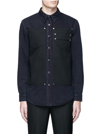 Main View - Click To Enlarge - Givenchy - Contrast front denim shirt
