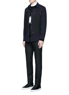 Givenchy Contrast front denim shirt