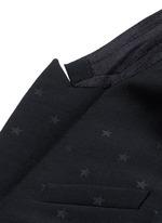 Satin lapel star jacquard tuxedo suit