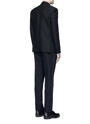 Back View - Click To Enlarge - Givenchy - Satin lapel star jacquard tuxedo suit