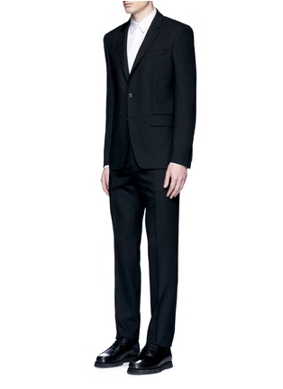 Figure View - Click To Enlarge - Givenchy - Notched lapel wool suit