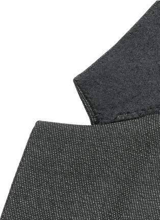 - Givenchy - Notch lapel speckled wool suit