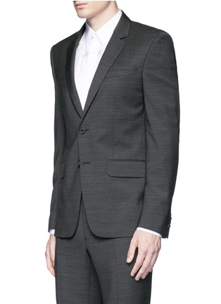 Front View - Click To Enlarge - Givenchy - Notch lapel speckled wool suit
