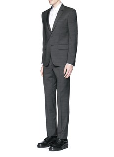 Givenchy Notch lapel speckled wool suit