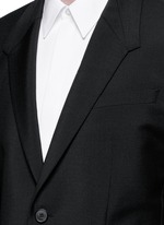 Madonna collar wool-Mohair suit