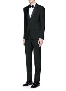 Givenchy Satin lapel wool-Mohair tuxedo suit