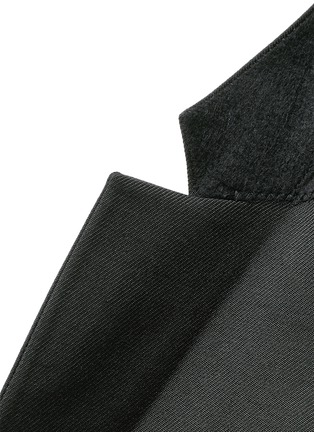 - Givenchy - Zip cuff wool blend twill blazer