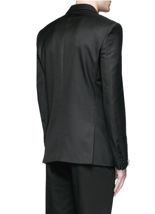 Back View - Click To Enlarge - Givenchy - Zip cuff wool blend twill blazer