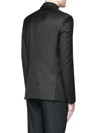 Back View - Click To Enlarge - Givenchy Beauty - Belted wool blend twill blazer