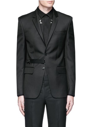 Main View - Click To Enlarge - Givenchy Beauty - Belted wool blend twill blazer