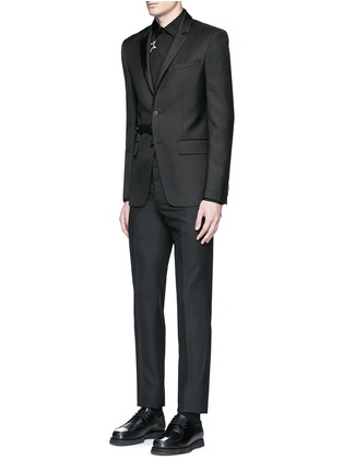Figure View - Click To Enlarge - Givenchy Beauty - Belted wool blend twill blazer