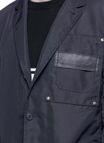 Patch pocket nylon soft blazer