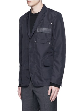 Front View - Click To Enlarge - Givenchy - Patch pocket nylon soft blazer