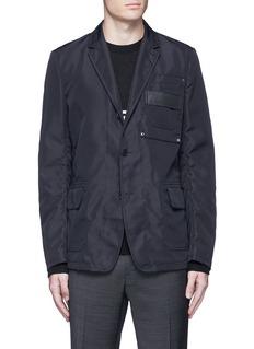 GivenchyPatch pocket nylon soft blazer
