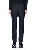 Side strap wool pants
