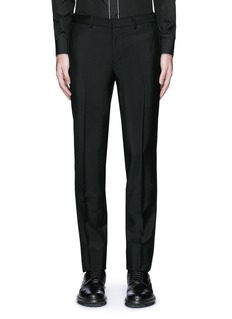 GivenchyCurb chain side stripe wool-Mohair pants